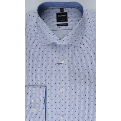 Navy Spotted Cotton Shirt