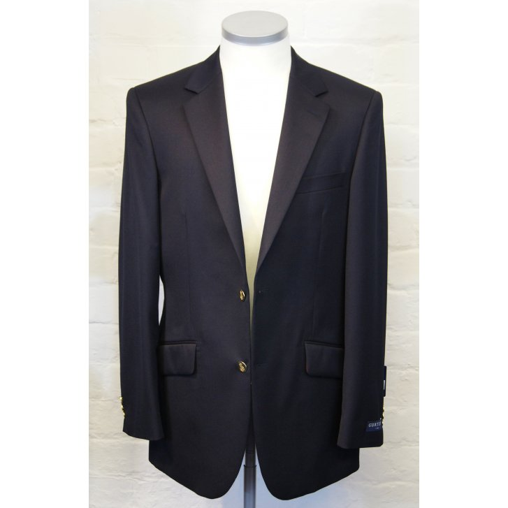 GURTEEN Navy Wool Blazer Single Breasted with Side Vents
