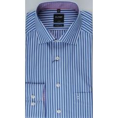 Blue and White Bengal Stripe Cotton Shirt