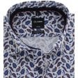 OLYMP Blue and Wine Paisley Cotton Shirt