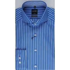 Blue Butchers Stripe Cotton Shirt