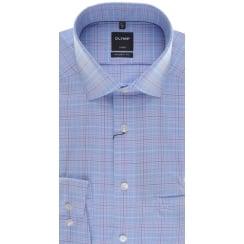 Blue Check Non Iron Cotton Shirt