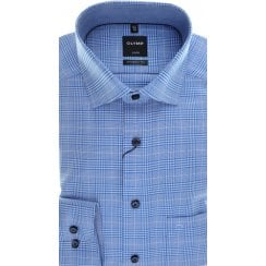 Blue Prince of Wales Check Cotton Shirt