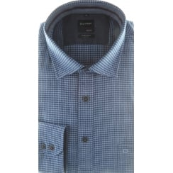 Brushed Cotton Houndstooth Shirt