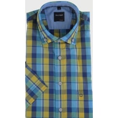 Checked Cotton Short Sleeved Shirt