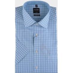 Cotton Gingham Short Sleeved Shirt
