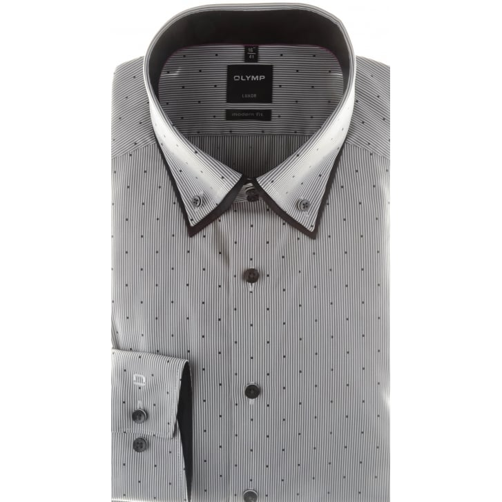 OLYMP Cotton Luxor Shirt with Double Collar