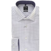 Cotton Purple Check Shirt on a White Background