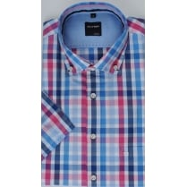 Cotton Short Sleeved Checked Shirt