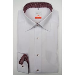 Easy Care Cotton Long Sleeved Button Down Under Collar White Shirt