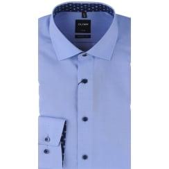 Fine Oxford Cotton Shirt in Blue