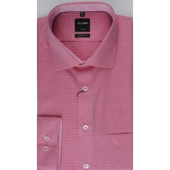 Neat Patterned Pink Cotton Shirt