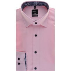 Pink Twill Button Down Collar Cotton Shirt