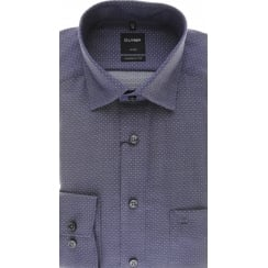 Purple Luxor Cotton Shirt with Dots