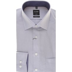 Purple Patterned Luxor Cotton Shirt with Trim