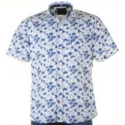 Short Sleeved Soft Cotton Patterned Shirt