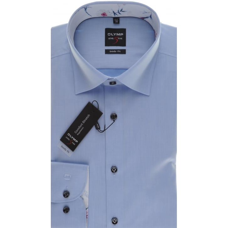 OLYMP Slim Fit Cotton Stretch Shirt in Blue or White