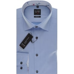 Slim Fit Cotton Stretch Shirt in Blue or White