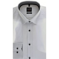 Slim Fit White Shirt with Trim