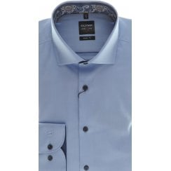 Tailored Blue or White Cotton Twill Shirt