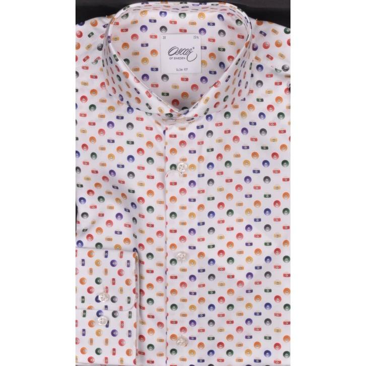 OSCAR Luxury Cotton Fancy Slim Fit Shirt