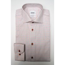 Two Fold Cotton Check Tailored Shirt with Duo Cuff