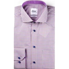 Two Fold Cotton Fine Multi Check Shirt