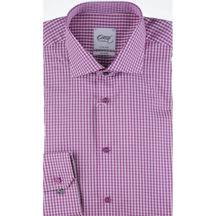 OSCAR Two Fold Cotton Gingham Shirt