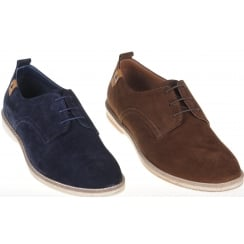 Casual Suede Lace up Shoe in Navy or Brown