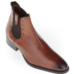 Classic Tan Chelsea Boot with Leather Uppers