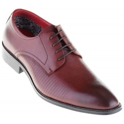 Contemporary Neat Stitch Pattern Wine Shoe