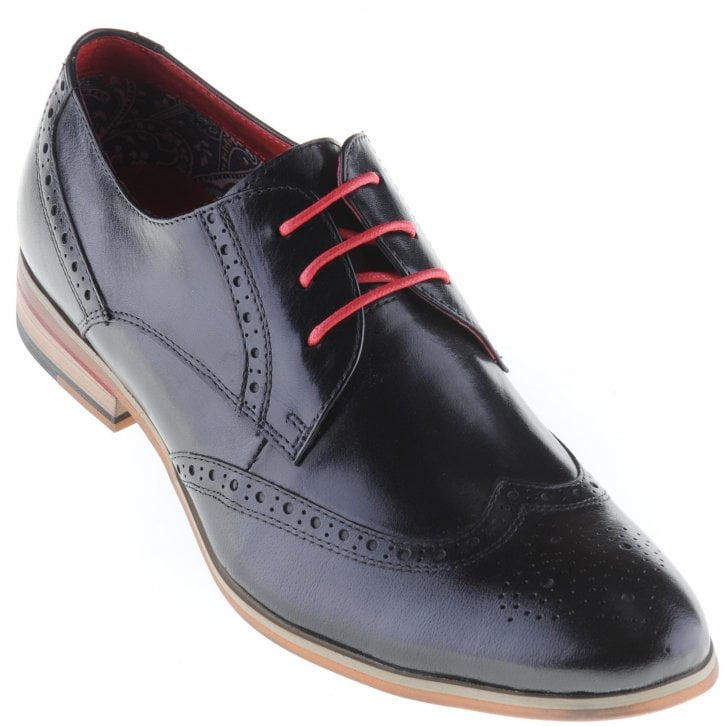 PAOLO VANDINI Fashion Black Brogue with Contrasting Sole