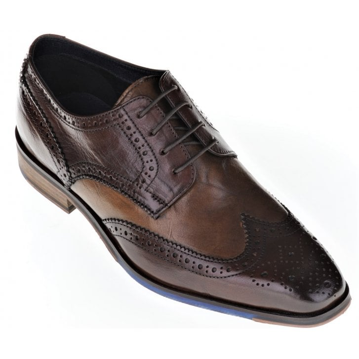 PAOLO VANDINI Leather Brown and Tan Fashion Brogue