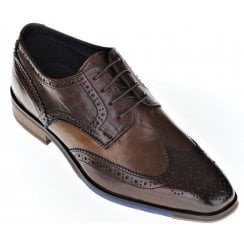 Leather Brown and Tan Fashion Brogue