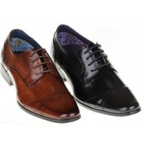 Smart Fashioned Lace up Shoe in Black or Tan