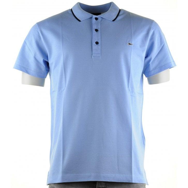 PAUL & SHARK Double Mercerized Cotton Pique Wine or Blue Slim Polo Shirt