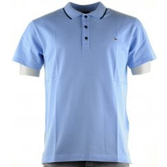 Double Mercerized Cotton Pique Wine or Blue Slim Polo Shirt