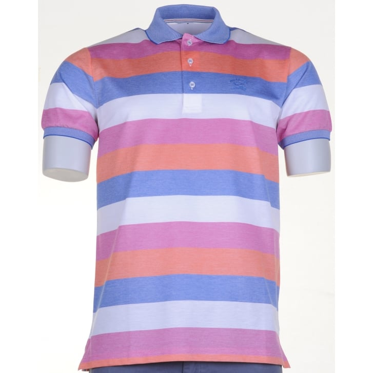 PAUL & SHARK Fine Cotton Pique Striped Polo Shirt