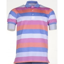Fine Cotton Pique Striped Polo Shirt