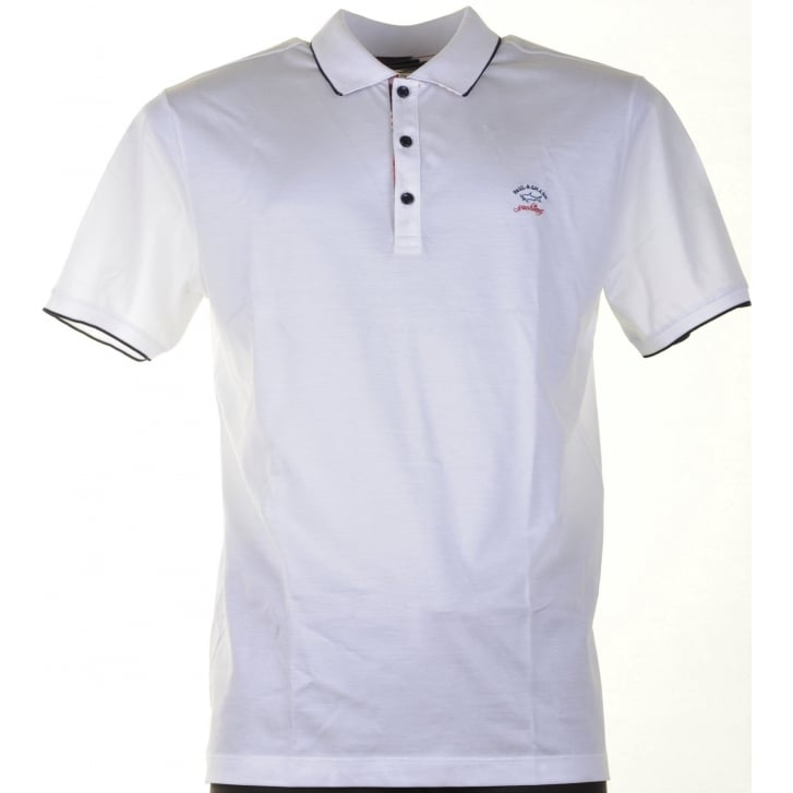 PAUL & SHARK Fine Cotton Pique White Polo Shirt