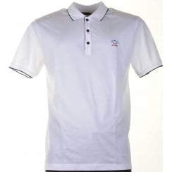 Fine Cotton Pique White Polo Shirt