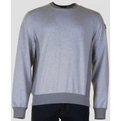 Grey Crew Neck Cotton Classic Fit Long Sleeved Top