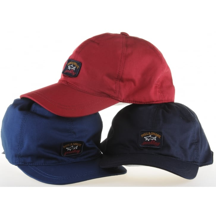 PAUL & SHARK Light Weight  Cotton Base Ball Cap in Navy, Wine or Blue