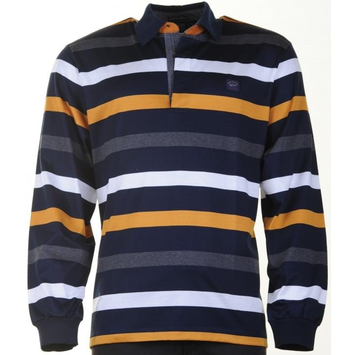 PAUL & SHARK Long Sleeved Cotton Polo Shirt