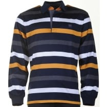 Long Sleeved Cotton Polo Shirt
