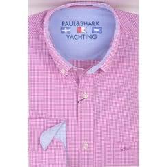 Pink Cotton Micro Check Shirt