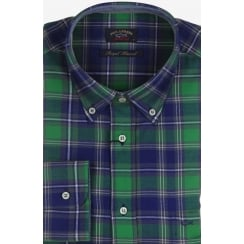Pure Brushed Cotton Flannel Long Sleeved Button Down Check Shirt