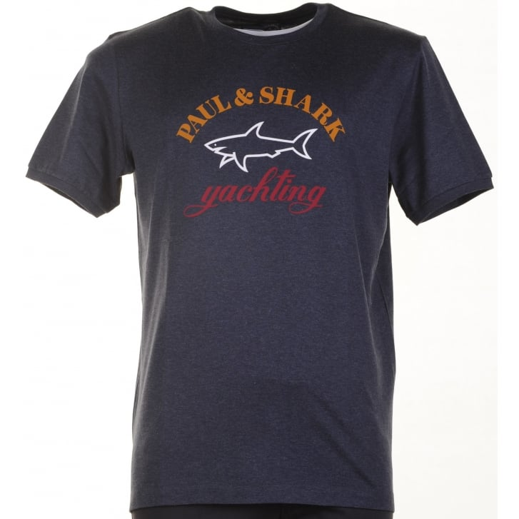PAUL & SHARK Pure Organic Cotton Navy or Grey T Shirt with Logo