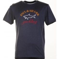 Pure Organic Cotton Navy or Grey T Shirt with Logo