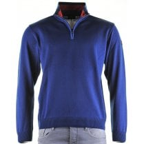 Quality 1/4 Zip Light Weight knitwear in Royal Blue